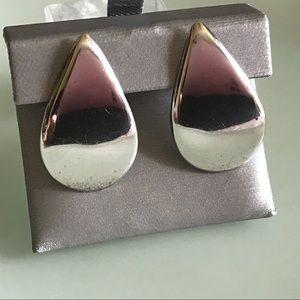 Vintage | Teardrop Sterling Silver Earrings